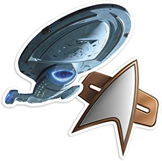 Popfunk Star Trek Voyager NCC-74656 and Delta Shield Collectible Stickers