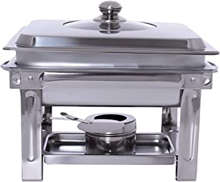 Chef Inox Stainless Steel and Glass 4 Liter Chafing Dish