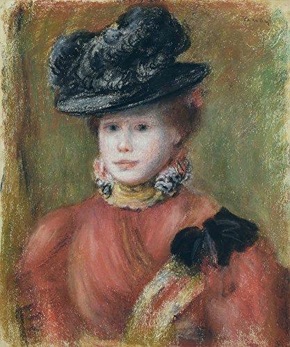 Das Museum Outlet–Frau in einer Rot Corsage und eine Schwarz Hat, 1894–Poster Print Online kaufen (101,6x 127cm)