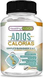ADIÓS CALORÍAS Carb & Fat Blocker | Potente Bloqueador 2 en 1 de Carbohidratos y Grasas | Adelgazante Efectivo | Adelgaza con Menos Restricciones | El Bloqueador más Potente del Mercado | 60 Cápsulas
