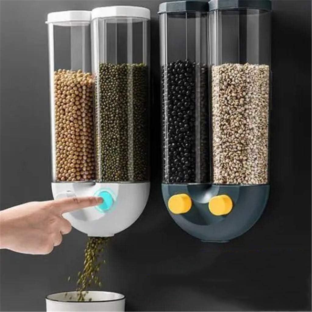 Push-Type Long Beach Mall Wall-Mounted Max 69% OFF Grain Storage Tank Dispenser Dry Food Bu