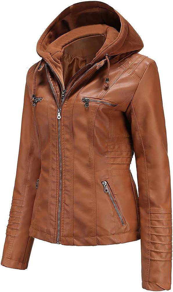 Tagoo Faux Leather Jacket Women Motorcycle Biker Nippon regular agency with Coat Overseas parallel import regular item for R