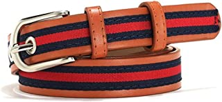 WMWLUO Student Canvas Pin Buckle Belt Punching Belt Personality Simple Wild Retro Fashion Decorative Belt (Color : Orange)