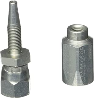 Gates 4C5-4RFJSX Field Attachable for C5C, C5D and C5M Hose, Dual Seat Female JIC 37/SAE 45 Flare Swivel, Steel, 3/16 ID