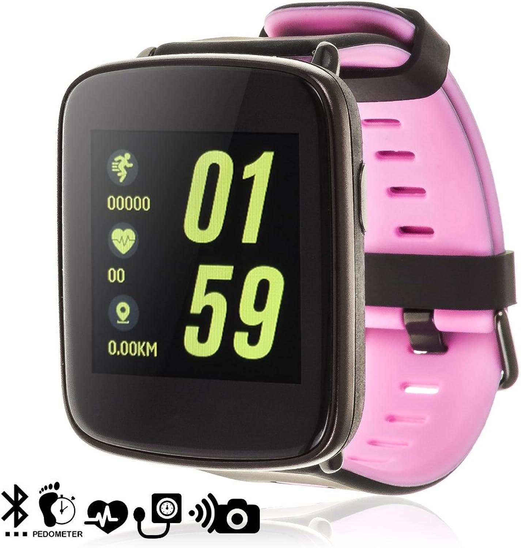 DAM TEKKIWEAR. DMX031lila. Smartwatch Gv68 Mit Schrittzhler, Herzmonitor, Benachrichtigung. Dunkellilat