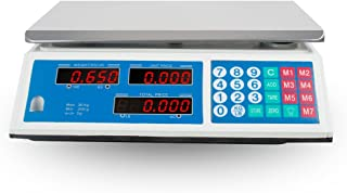 Digital Food Meat Produce Weight Computing Scale,Electrical Weight Scale 60LB 30KG Price Computing Food Meat Vegetables Scale for Kitchen Cafeteria Grocery Stores Deli Market Farmer