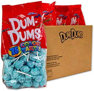 Dum Dums Light Blue Blu Raspberry 4-75 count bags