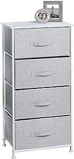 mDesign penderie tissu avec 4 tiroirs – système de rangement universel pour la chambre à coucher, l'armoire, le bureau, et...