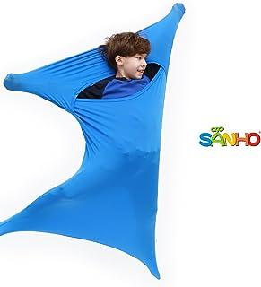 "SANHO Premium Sensory Sock, Updated Version, Medium, 50"" L x 24"" W, Good for Height:47""- 63"" Blue"