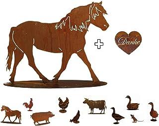 IPOTCH 1//6 Pferde Modell Dekofigur Gartenfigur Tierfigur Dekoration f/ür Haus B/üro und Laden Braun