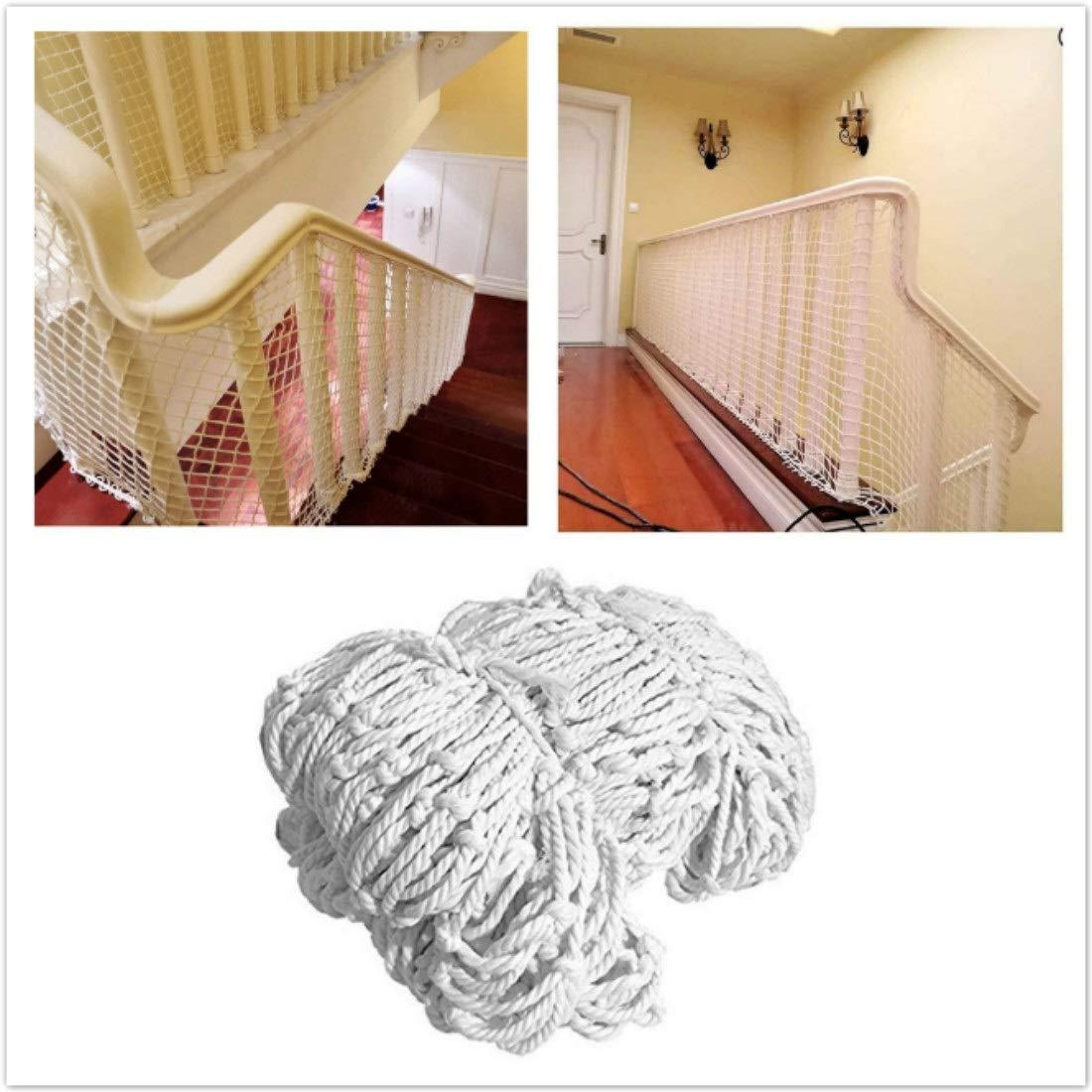 Red de Seguridad Infantil, Balcón Escalera Red de Protección contra Caídas Interior Barandillas Escalera Playground Net Red de Decoración Red de Seguridad de Escaleras Cat Net, Red de Cuerda Blanca: Amazon.es: Hogar