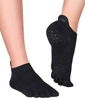 Plus Yama, Calcetines Antideslizantes de Dedos para Pilates
