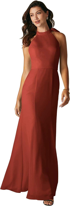 ALICEPUB Halter Fresno Mall Latest item Chiffon Bridesmaid Dresses Formal Long P Mermaid