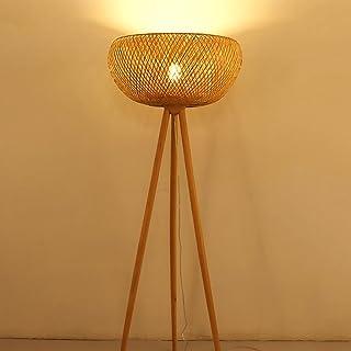 $lampe sur pied Lampe de plancher en bambou en rotin, salle d'étude Salle de séjour Lampes simples haut 145cm
