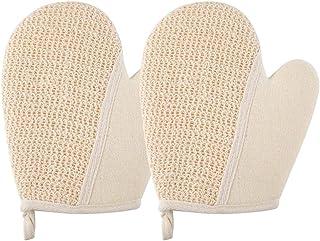 Cabilock 2pcs Exfoliating Gloves Bath Shower Scrubber Foaming Body Scrubbing Gloves for Travel Home Hotel Bathing Massaging