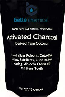 (1LB) Organic Coconut Activated Charcoal Powder - Food Grade, Kosher - Teeth Whitening, Facial Scrub, Soap Making (1 Ounce...