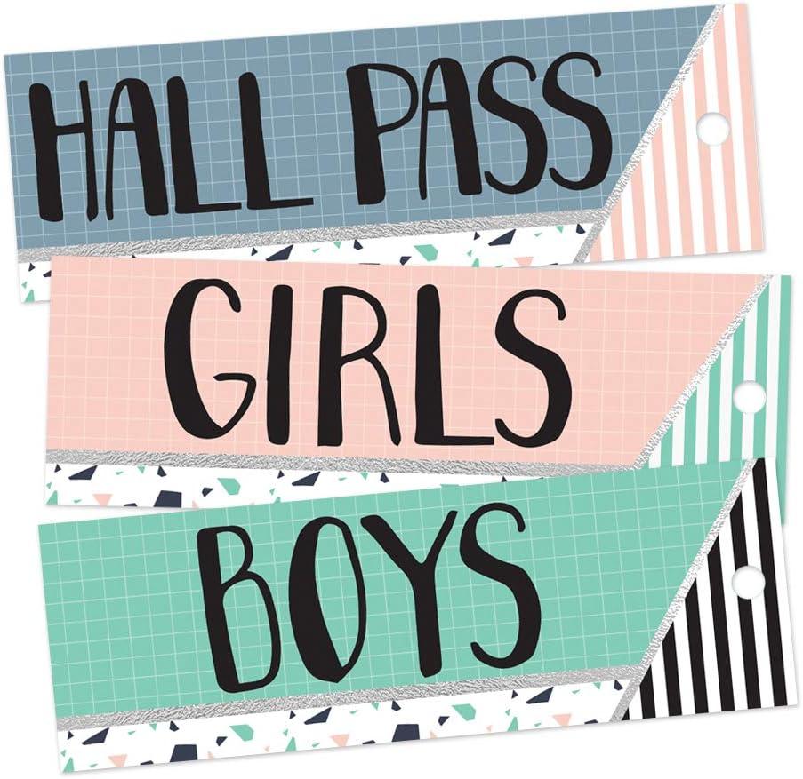 Eureka Confetti Striped Multicolor Bathroom service Hall Pass Passes Boston Mall and