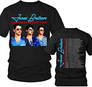 Jonas-Boyband-Tour-Happiness 2019 Music Big Fans T-shirt, Gift for Fan Unisex T-shirt - Premium T-shirt - Hoodie - Sweater - Long Sleeve - Tank Top