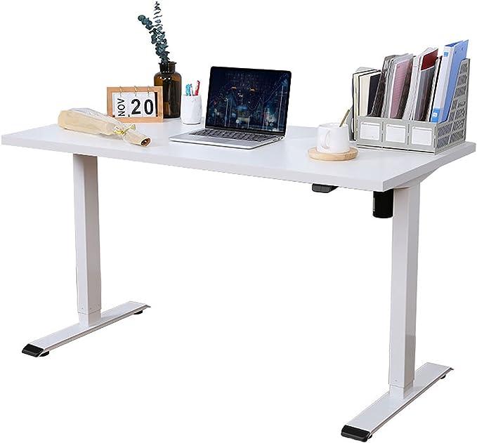 FLEXISPOT Electric Standing Desk Height Adjustable Standing Desk Sit Stand Desk Adjustable Desk Stand Up Desk for Home Office EG1 (120 * 60cm, White Frame+ White Desktop) : Amazon.co.uk: Home & Kitchen