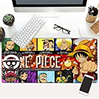 ゲーミングマウスパッドアニメワンピースXXLラージマウスパッドゲーミングライティングデスクマットパッドコンピューターゲーマーキーボードラップトップ800x300x4mm