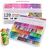 Pennarelli a doppia punta con punta a punta fine, per disegnare libri da colorare e calligrafia 120 colours
