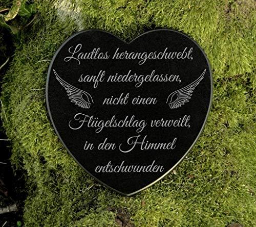 Gedenkstein Herz Grabschmuck Sternenkind Marmor