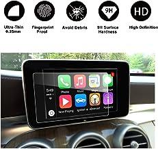 Protector de pantalla de vidrio templado para navegación, (2014 - 2017) Protector de pantalla transparente Mercedes AMG Class C (W205), HD Protector de pantalla transparente (7 pulgadas) POR RUIYA