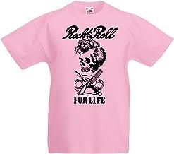 lepni.me Camiseta para Niño/Niña Rock and Roll For Life - 1960s, 1970s, 1980s - Banda de Rock Vintage - Musicalmente - Vestimenta de Concierto