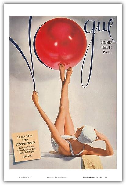 Pacifica Island Art Vogue-Verano de Belleza Edición-Vintage c.1941 Portada de Revista-Maestro Lámina-9