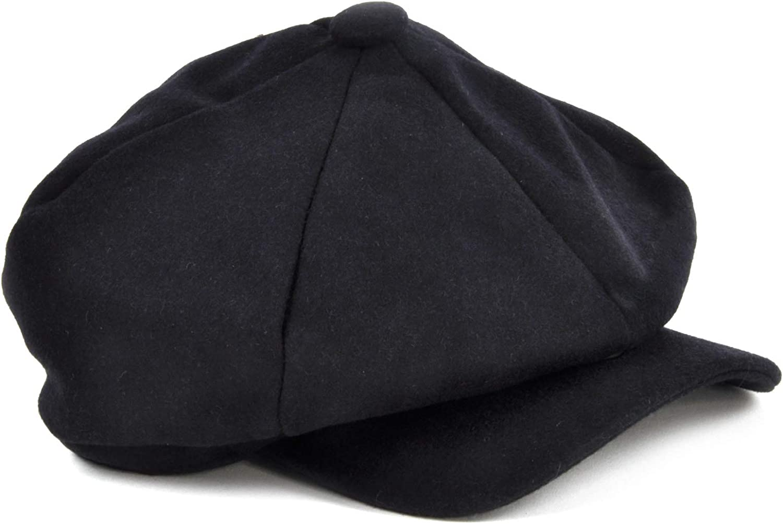 Sophos Blue 6 Panel News Boy/Baker Boy Wool Cap - Medium
