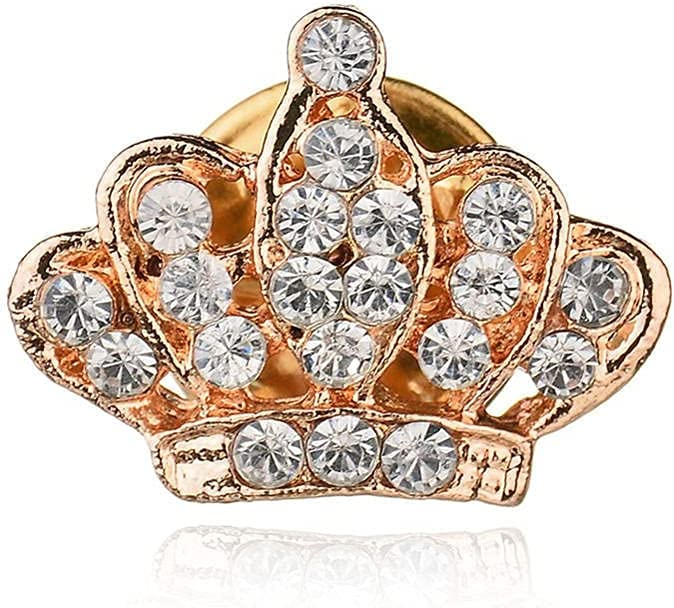 Beautiful store Women's Challenge the lowest price Brooches Pins Clear Girl Crown Crystal Brooche