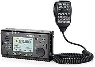 Xiegu X5105 QRP HF Transceiver Amateur Ham Radio VOX SSB CW AM FM RTTY PSK 0.5-30MHz 50-54MHz 5W with USB Cable (2019 Upgraded Version)