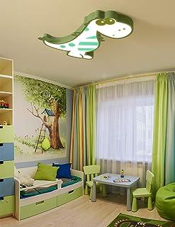 Sunny Lingt Dinosaurio lámpara de techo de niños del dormitorio de la lámpara de luz, creativos modernos aparatos LED decoración de interiores de 3 colores de luz regulable lámparas pendientes for la