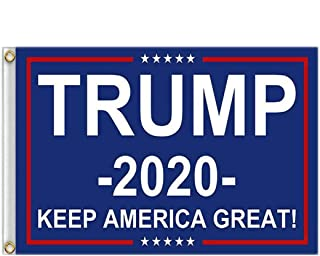 Best Donald Trump Flag 3X5 Foot - 2020 Trump President Flags Keep America Great Flag 3x5 ft with Brass Grommets MAGA Reviews