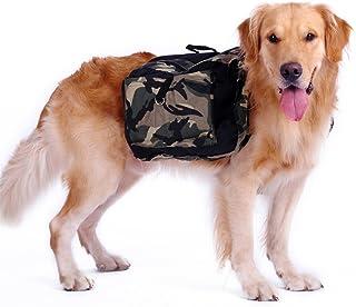 Mai Yi Dog Saddlebag Backpack,Waterproof Camouflage Saddlebag for Medium Large Dogs