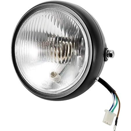 Optique Moto Rond,Phare rond pour moto,rétro noir lentille claire, phare halogène LED pour GN125 7 headlight motorbike led