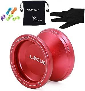 Magic YoYo Pro Responsive Yo-yo Beginner V6 LOCUS Space Matt Metal Yo Yo Set Red