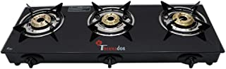 Thermador Toughened Glass Top 3 Burner Gas Stove LPG, Auto Ignition (Black)