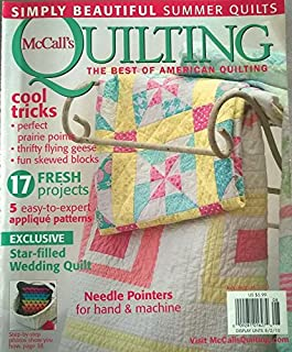 McCALL'S QUILTING Magazine August 2009 Volume 16 No. 4 (Beautiful Patterns For Your Home, quilts, patterns, designs, 6 cool star designs, how to do kaleido-cutting, ribbon loop edging, 15 patterns, free motion quilting)