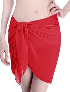 Sexyshine Women's Summer Swimwear Chiffon Cover up Beach Sarong Pareo Bikini Swimsuit Wrap
