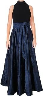 Womens Jersey-Taffeta Tank Dress, Blue, 14