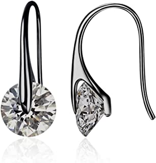 MESTIGE Eclipse Drop Dangle Earrings in Hematite with Crystals from Swarovski®, Gift