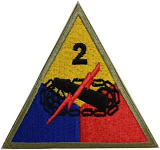 Reproduction WW2 US 2nd. Armored Division (Hell on Wheels) Patch