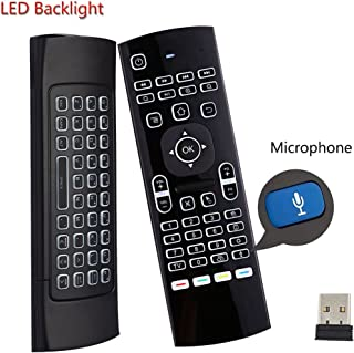 Air Mouse,MX3 Pro Backlit Mini Keyboard,Voice Remote Control,Mini Wireless Keyboard & IR Learning Air Mouse Remote,Best for Raspberry Pi 4 Android Smart Tv Box HTPC IPTV PC Pad Xbox