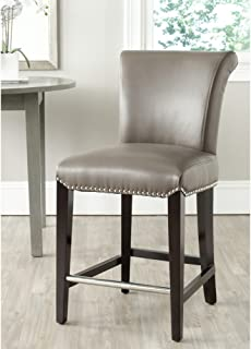 Safavieh Mercer Collection Seth Clay Leather 25.9-inch Counter Stool