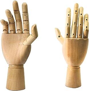 Luckyw Träskyltdockhänder, handstatyer och figurer skulpturer, handmodellsdekorationer
