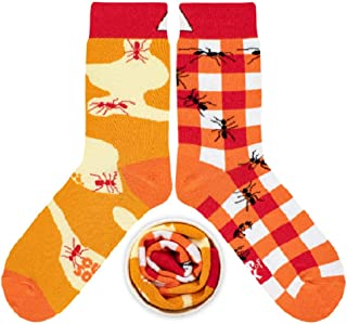 CUP OF SOX Herren Damen Lustige Socken mit Ameisen - Gemuste