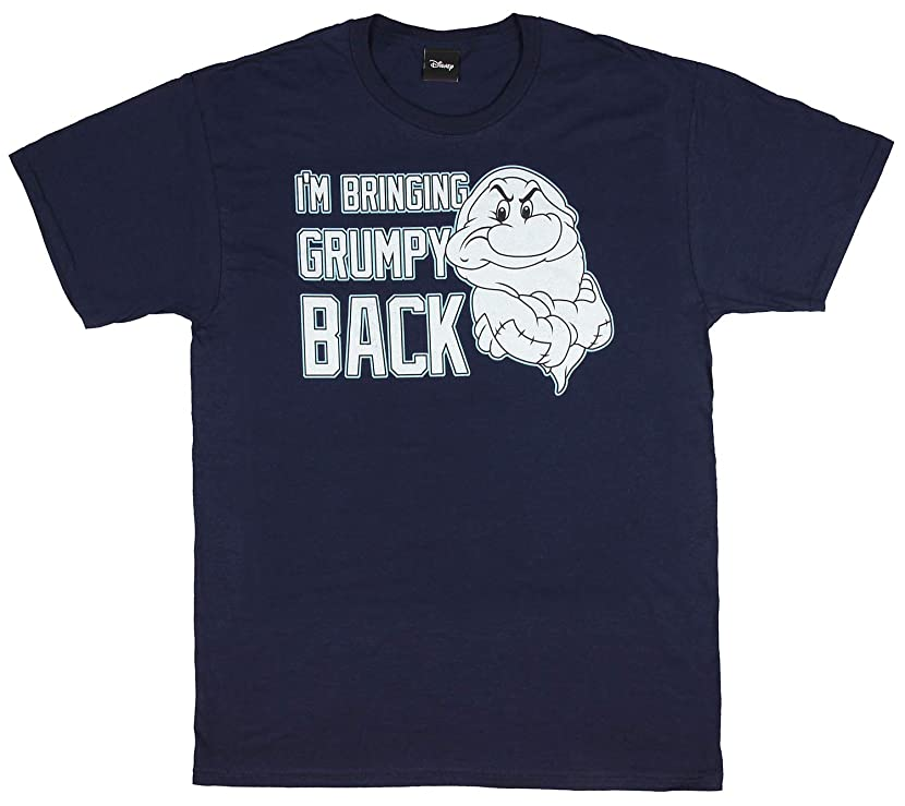 Disney I'm Bringing Grumpy Back Seven Dwarf Snow White Navy Cotton T-Shirt