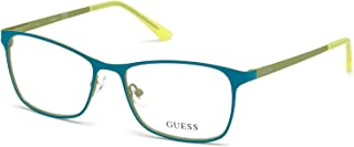 Guess Unisex Optical Frame, 53mm, Turquoise
