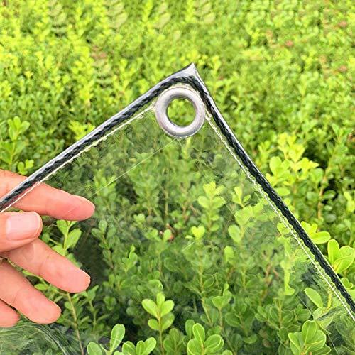 Sh000ad Lona Transparente Impermeables Exterior,Lona de Protección Tarea Pesada Ojales PVC Vidrio Suave UV y Resistente Al Frio,Patio,Cubierta Vegetal,0.3mm,400g/M²,Personalizado (3x5m/9.8x16.4ft)